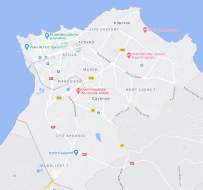 Quartier Cayenne : Hibiscus, Mango, Montabo, Loubère